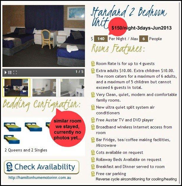 motel tariffs